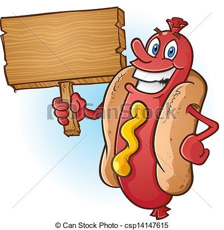 Advertisement clipart hotdog Holding Clip A Art smiling