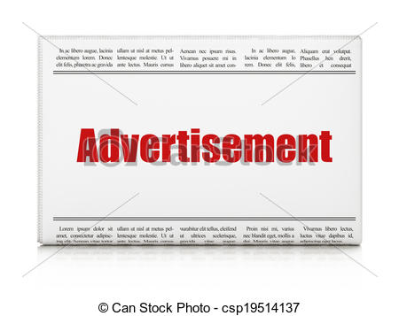 Advertisement clipart outcome Newspaper concept: Advertising newspaper Advertising