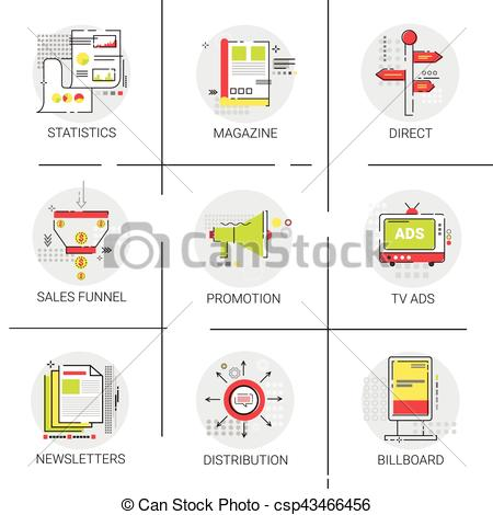 Advertisement clipart sales and marketing Distribution Sales  csp43466456 Icon