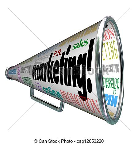Advertisement clipart sales and marketing Megaphone Sales of Advertising Marketing