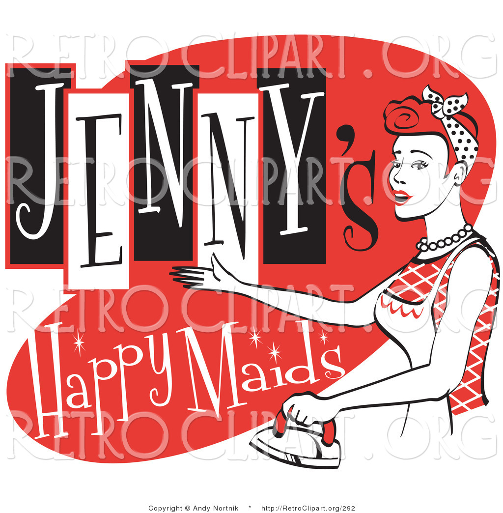 Advertisement clipart vintage woman Ad Illustrations Royalty Free Stock