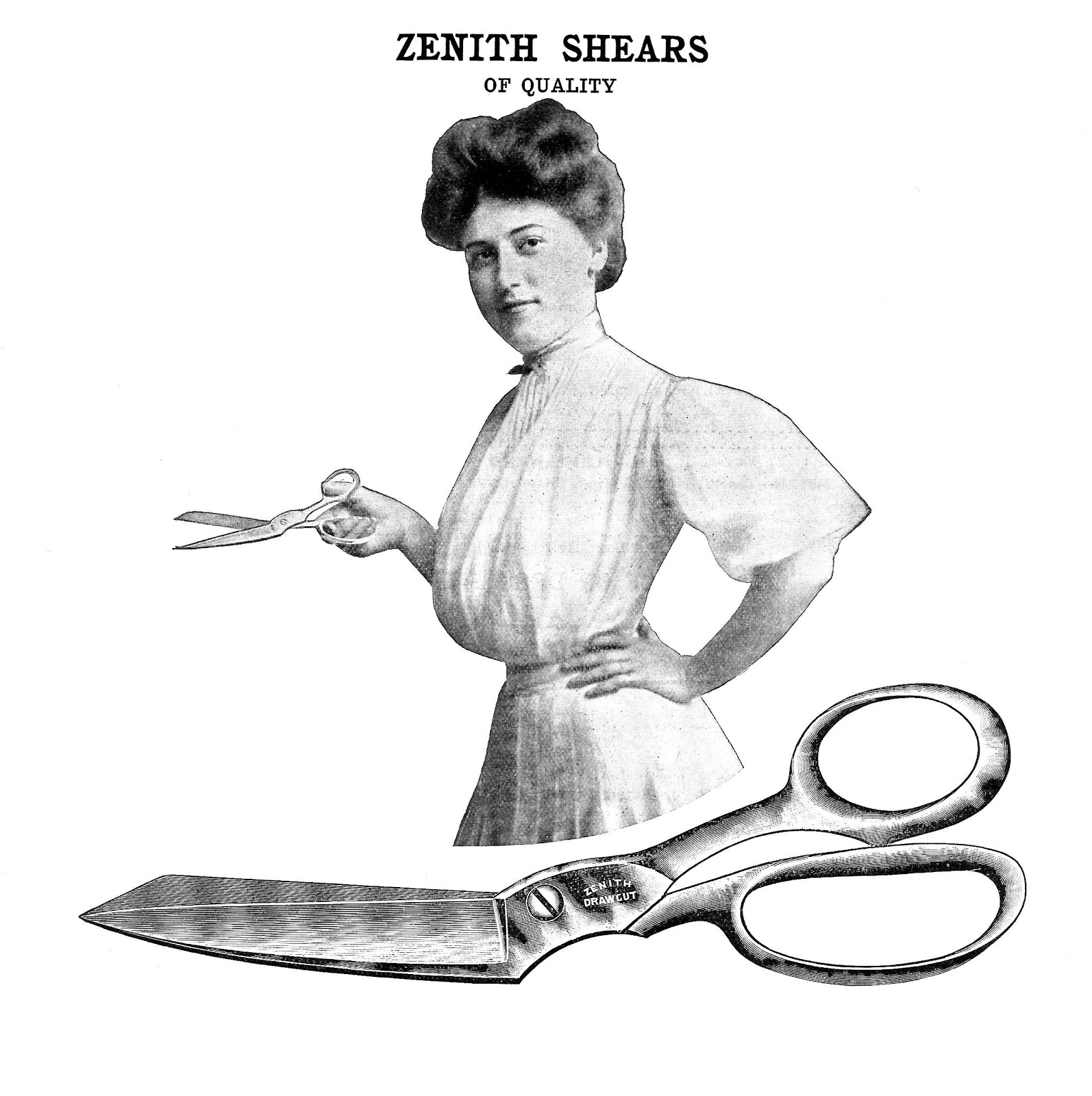 Advertisement clipart vintage woman Clip for Advertisement Zenith Vintage
