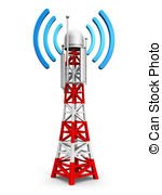 Aerial clipart transmitter Art   and digital