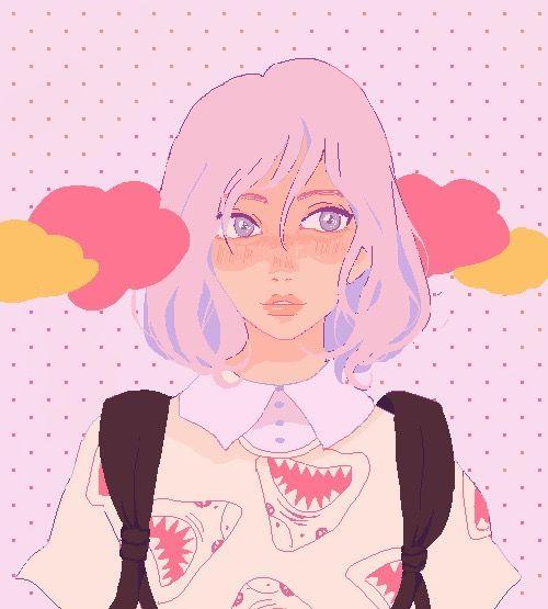 Aesthetic clipart Pastel Anime  Pastel AnimeGirl
