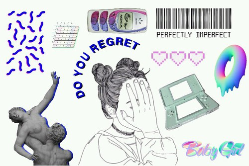 Aesthetic clipart Blue It png discovered aesthetic