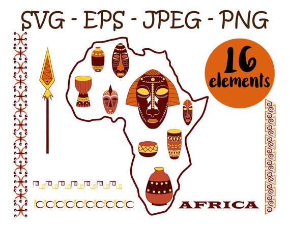 Africa clipart african safari Mask mask safari africa transparent