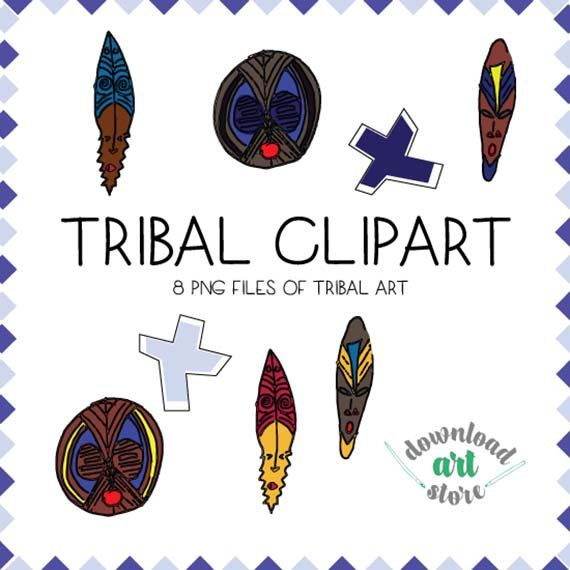 Africa clipart african tribe Tribal Pinterest Tribal Mask Tribal