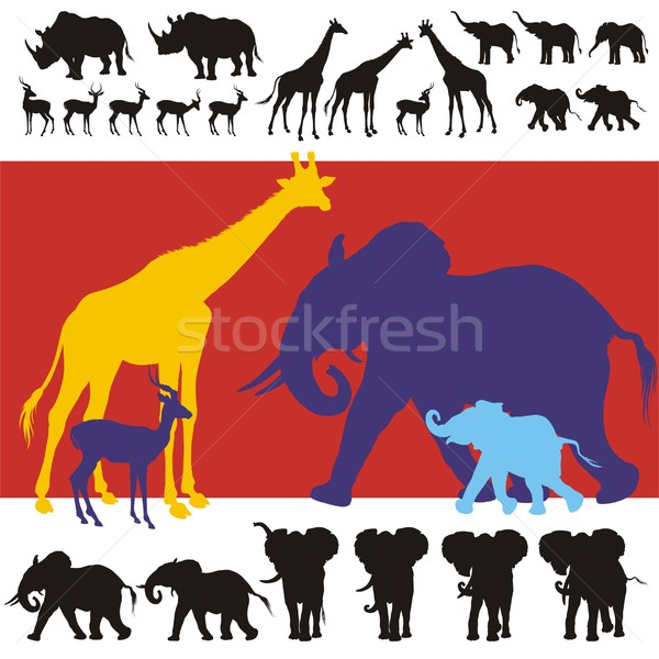 Africa clipart animal science Vector to © lightbox Animals