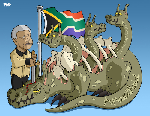 Africa clipart apartheid Cartoon Mandela south tagged apartheid