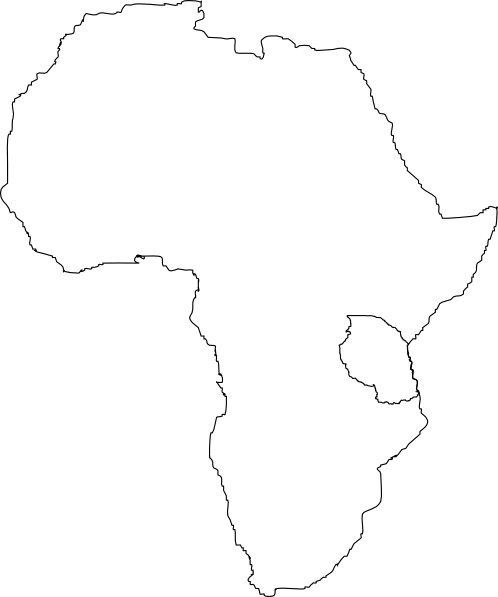 Africa clipart black and white Art Art public vector com