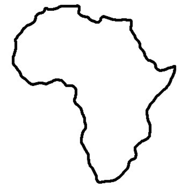 Africa clipart black and white World  Images art this