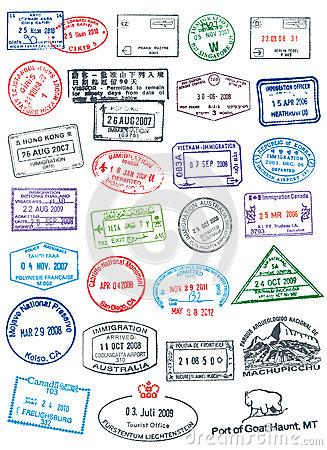 Stamp clipart passport #7