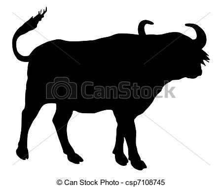 African Buffalo clipart Silhouette Buffalo of csp7108745 African