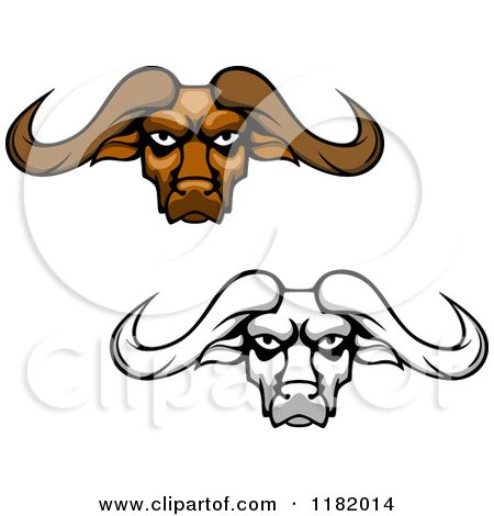 African Buffalo clipart On best 103 Grayscale Aggressive
