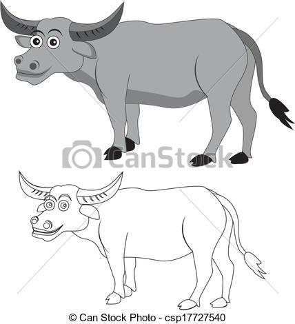 African Buffalo clipart carabao Buffalo cape  EPS of