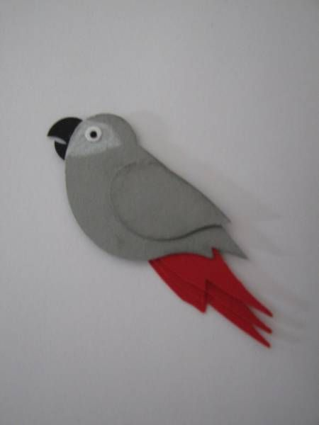 African Grey Parrot clipart papercraft Images Indian 79 and by