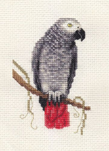 African Grey Parrot clipart papercraft Best and materials counted PARROT