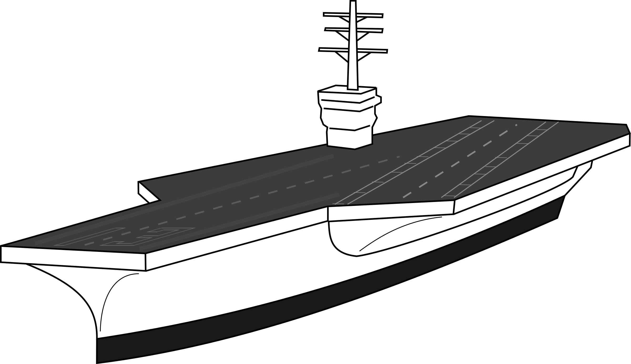 Drawn ship pirat Clipart Aircraft carrier carrier Aircraft