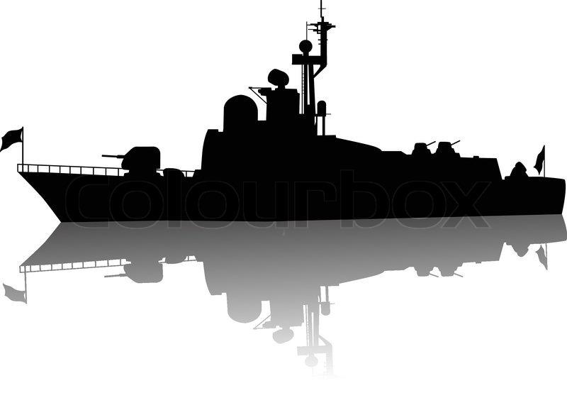 Battleship clipart animated Silhouette Clipart Battleship Clipart Silhouette