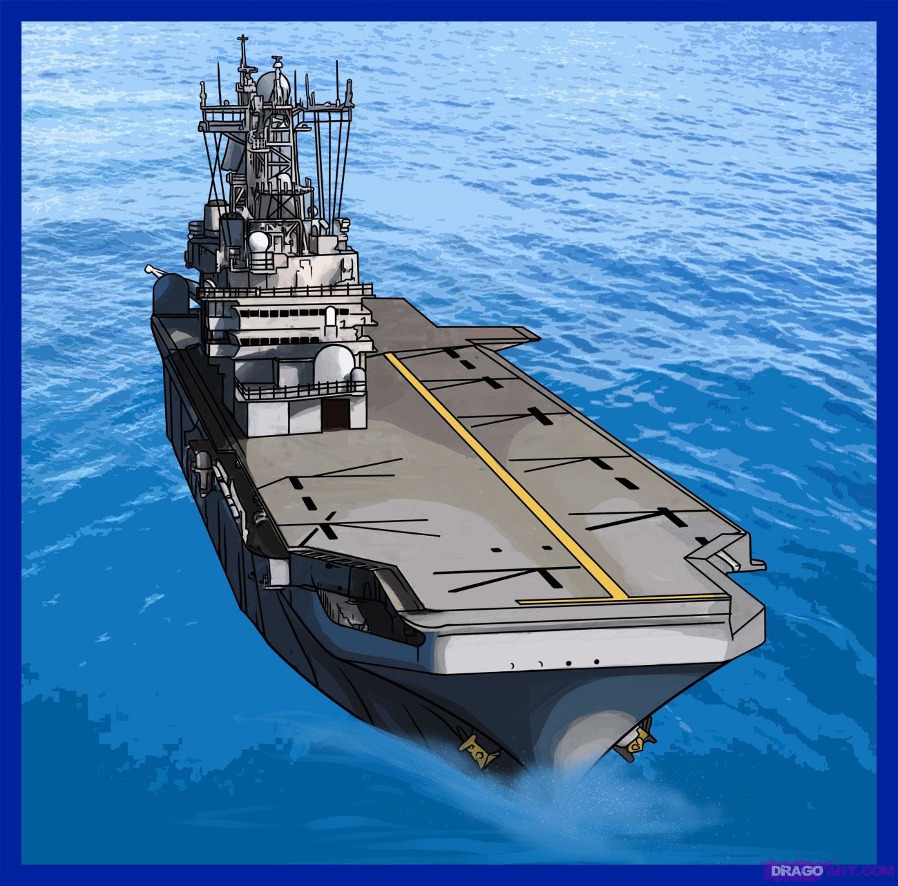 Drawn ship battleship Drawing Aircraft carrier carrier Aircraft