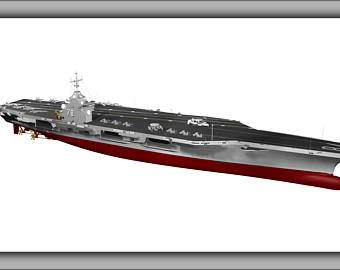 Aircraft Carrier clipart cvn 78 Etsy Sizes Poster Gerald R