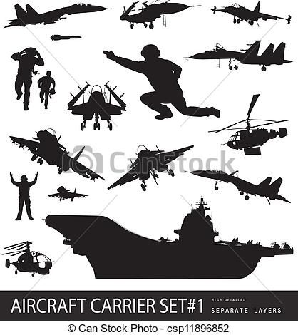 Aircraft Carrier clipart military Carrier Clip carrier Silhouette Silhouette