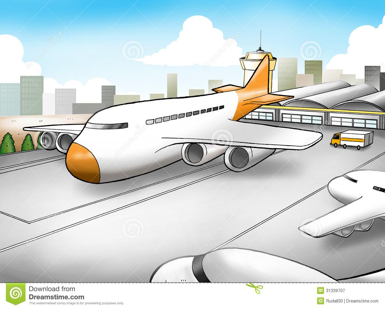 Aircraft clipart airport terminal #5