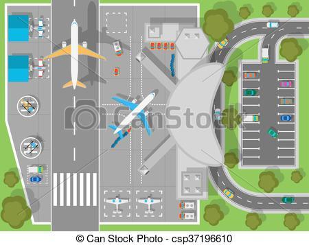 Aircraft clipart airport terminal #6
