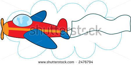 Airplane clipart banner clipart Clip Airplane Banner 08 101