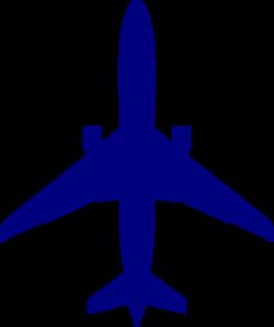 Aircraft clipart blue airplane #7