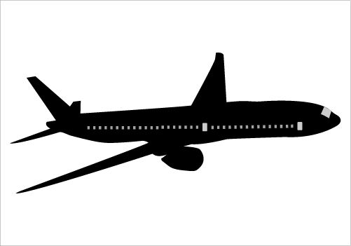 Aircraft clipart boeing Vector Illustration the Flying Silhouette