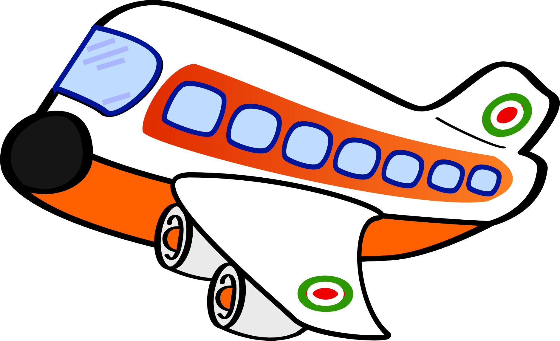 Aircraft clipart jumbo jet Cartoon cartoon Aeroplane clipart clipart