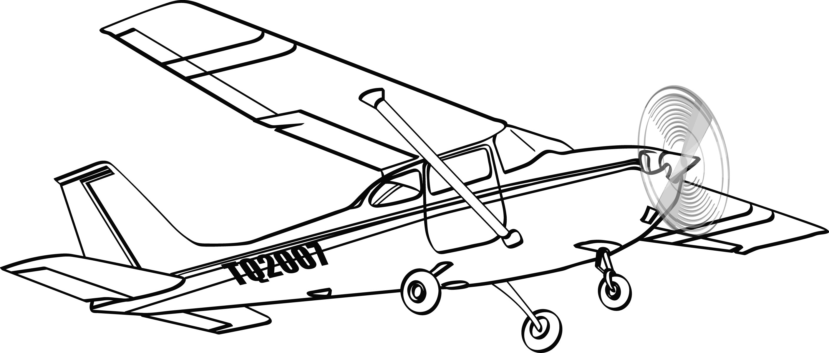 Aircraft clipart cessna airplane Clipart cessna Engine Single (47+)