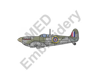 Aircraft clipart spitfire Machine Spitfire Embroidery Plane Spitfire