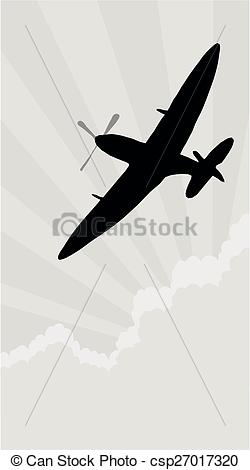 Aircraft clipart spitfire Spitfire of csp27017320 Silhouette Illustration