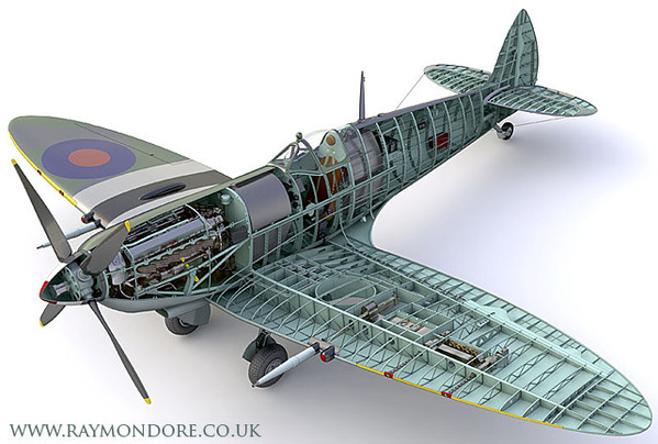 Aircraft clipart spitfire Illustrations Spitfire of Cutaway Spitfire