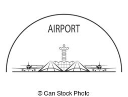 Airfield clipart airport check in And Airport tower  terminal