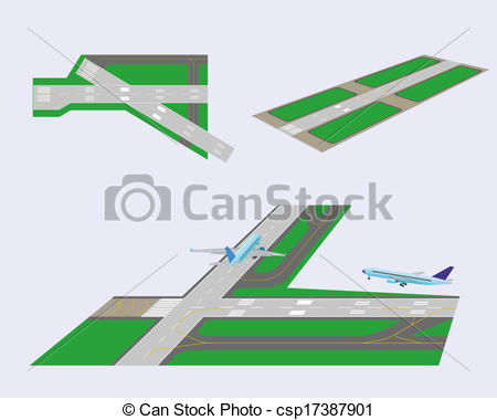 Airfield clipart plane runway Illustrations Art Clip All view