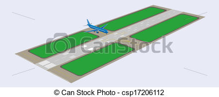 Airfield clipart plane runway Csp17206112 Perspective runway of Vector