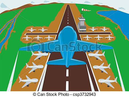 Airfield clipart plane runway Drawings to entering airport of