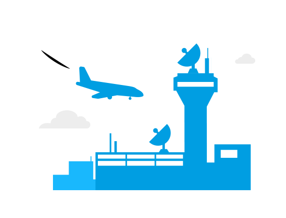 Airfield clipart air traffic control Air Tower navigation services Airways