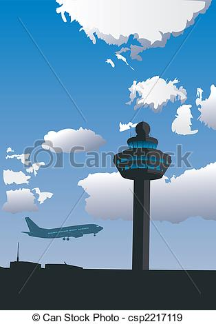 Airfield clipart air traffic control Airport Tower Control Tower of