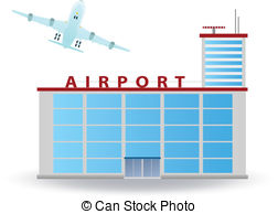 Lounge clipart airport building Vector Airport and  clipart