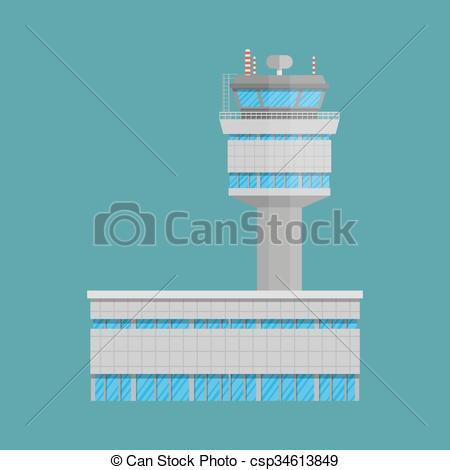 Airfield clipart control tower Tower terminal of control EPS