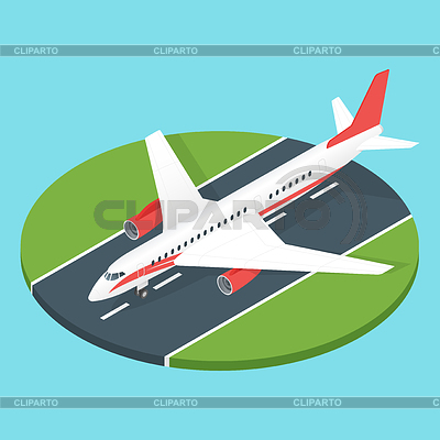 Airfield clipart plane runway Vector runway airport on Photos