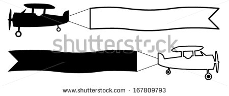 Airplane clipart banner clipart Clipart With black_and_white_plane_icon_0071 Banner and