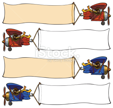 Airplane clipart banner clipart Stock two seater Plane seater
