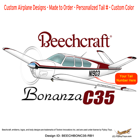 Airplane clipart side view Beechcraft 8 Products C35 Bonanza