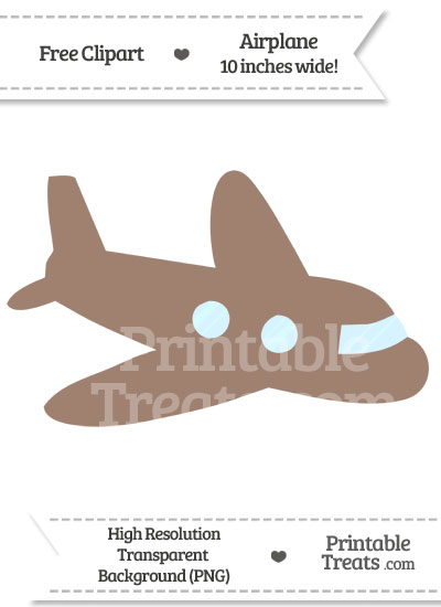 Airplane clipart brown Treats PrintableTreats Clipart from com