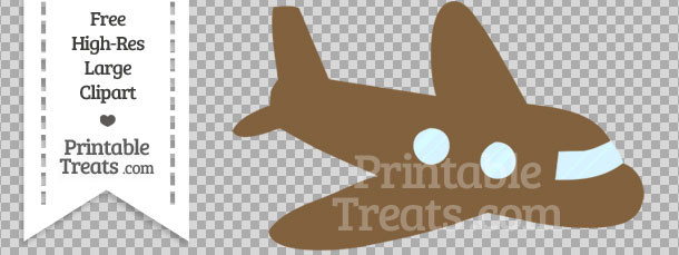 Airplane clipart brown Brown Treats Coyote Airplane Clipart
